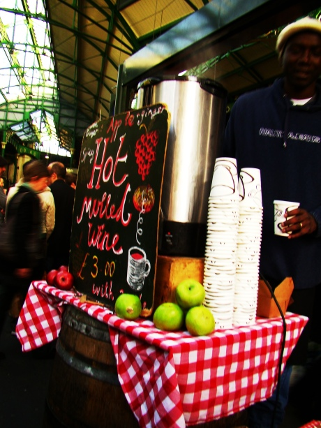 mulled wine at borough market